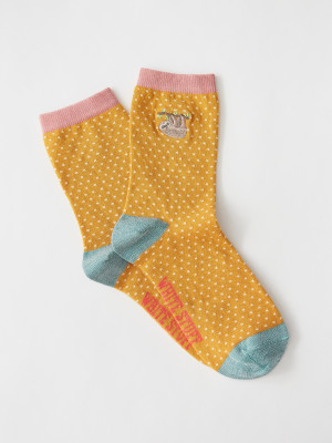 Embroidered Sergia Sloth Sock