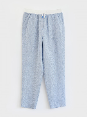 Aria Stripe Linen Trousers