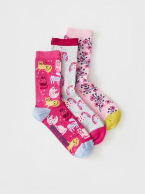 Cat 3 Pack Socks