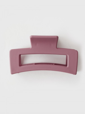 Matte Rectangle Hair Claw