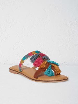Tassel Flat Sandal