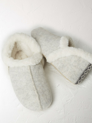 Grey Navajo Slipper