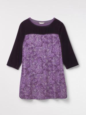 Decadence Velvet Jersey Tunic