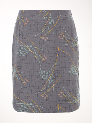 Meghan Print And Emb Skirt
