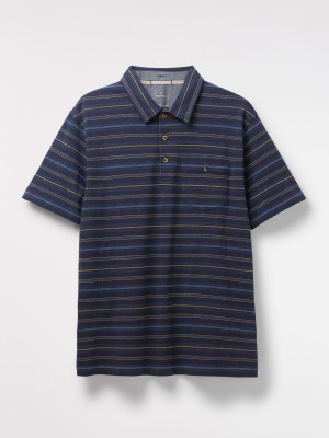 Gecko Textured Stripe Polo