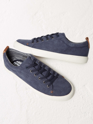 Washed Lace Up Trainer