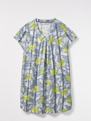 Rice Flower Print Jersey Tunic