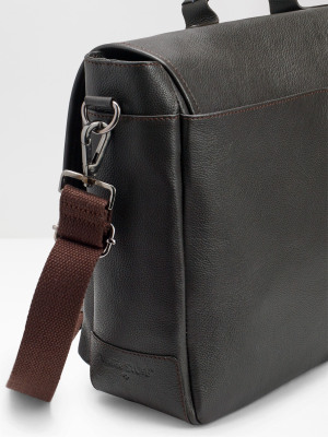 Monty Leather Messenger Bag