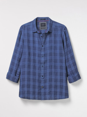 Riverfront Check Linen Shirt