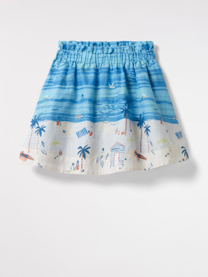 Beach Scene Reversible Skirt