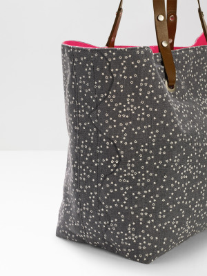 Star Reversible Canvas Tote