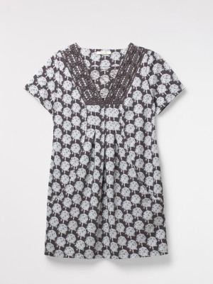 Locket Lace Jersey Tunic Top