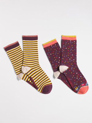 Country Cottage Socks 2 Pack