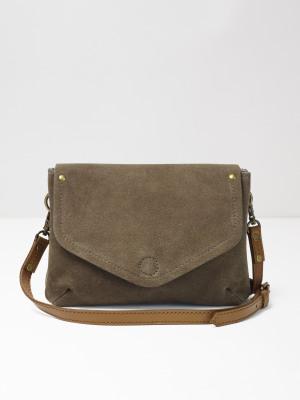 Josie Suede Crossbody Bag Khaki