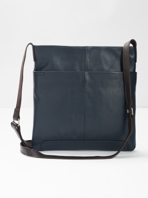 0200055b73 Issy Leather Crossbody Bag NAVY