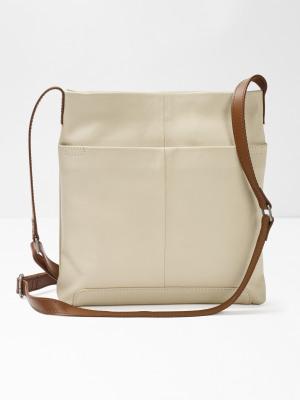 9881e6b7dacf Issy Leather Crossbody Bag BONE