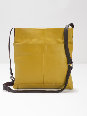 Issy Leather Crossbody Bag CHARTREUSE b268a2d8ee3db