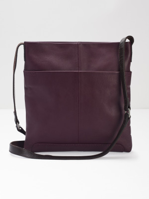 Issy Leather Crossbody Bag Galaxy Purple