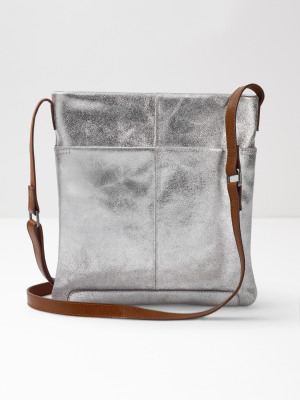 2de2ea2c2b Issy Leather Crossbody Bag SILVER