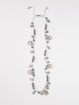 Stone & Tear Drop Necklace