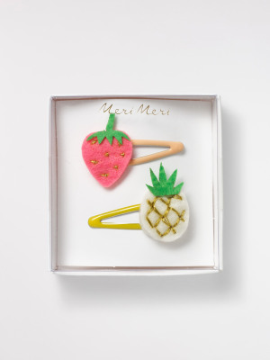 Fruit Hairclips