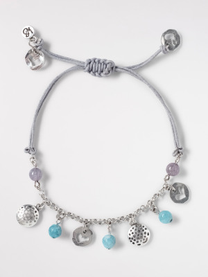 Cut Out Heart & Stone Bracelet