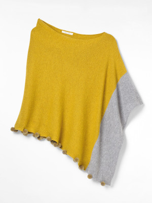 Penelope Colour Block Poncho