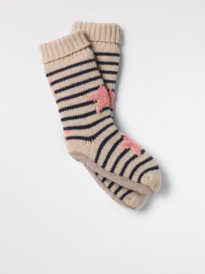 Star And Stripe Slipper Sock
