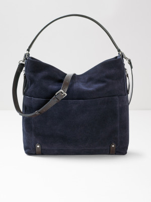 Ella Suede Hobo Midnight Navy