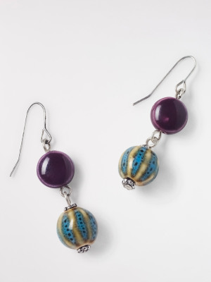 Ceramic Bead Drop Earring