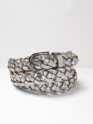 Plaited Leather Belt