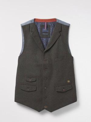 Talus Check Waistcoat
