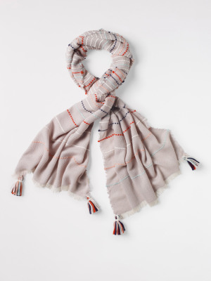 Layla Stitch Tassel Scarf