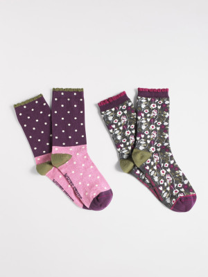 Hiding Owls Sock 2 Pack