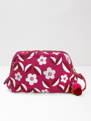 Graphic Floral Make Up Bag