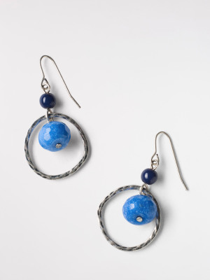 Wave Semi Precious Earring