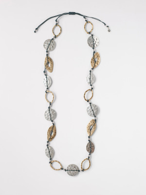 Cord Mixed Metal Necklace
