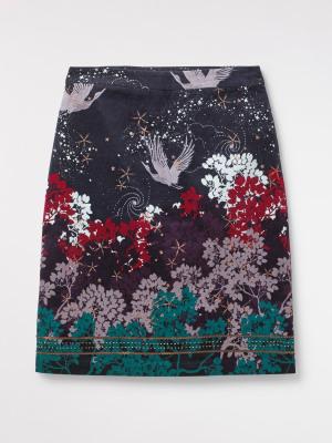 Cosmic Velvet Skirt