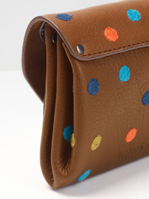 Kate Leather Dotty Emb Purse