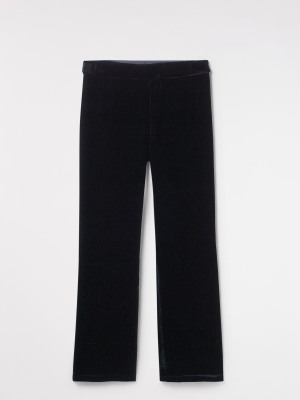 Black Magic Velvet Trouser