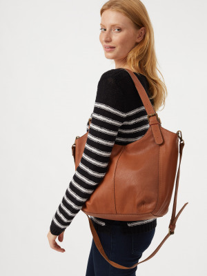 Bailey Zip Hobo Bag Tan
