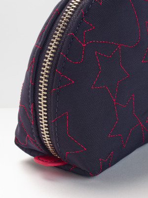 Star Embroidered Make Up Bag