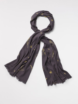 Forager Embroidered Scarf