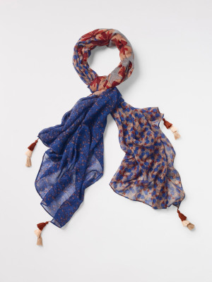 Willow Printed Wool Scarf