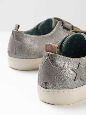 Verity Velcro Leather Trainer