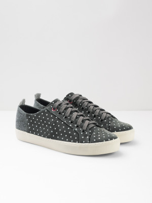 3b8e694b5454 Sally Spot Lace Up Trainer GREY