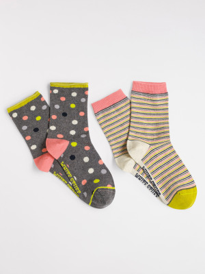 Space Spot Sock 2 Pack