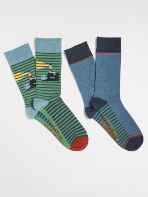 Stripe Coast 2 Pack Sock