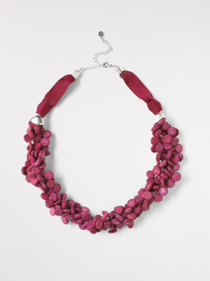 Plaited Mono Bead Necklace