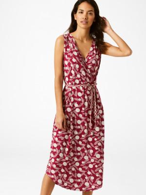 42ef2c025a859 Avery Wrap Dress PINK